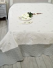 Tagesdecke Bettüberwurf Landhaus Shabby Chic -