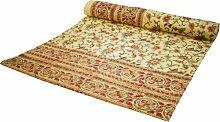 Tagesdecke Bettüberwurf Nr. 30a / Blockdrucktücher, Tagesdecken - Größe: Double 225 cm*275 cm