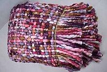 Tagesdecke Decke Kuscheldecke Wohndecke Schlafdecke 125x150 cm bunt mit Fransen
