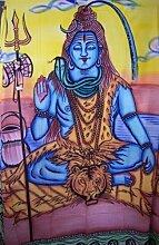 Tagesdecke Gott Shiwa 235x205 cm indische Decke