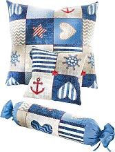 Tagesdecke Henrik, blau (Doppelbett 160cm ohne