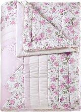 Tagesdecke Lara, rosa (Einzelbett mit Fußteil 210/140 cm)