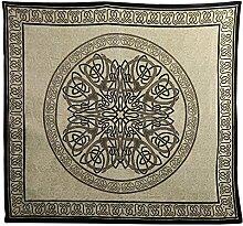 Tagesdecke Mandala schwarz weiß 220 x 210 cm indische Decke Überwurf Baumwolle Vorhang Heimtextilien Bettwaren