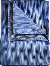 Tagesdecke Maurice, blau (Einzelbett mit Fußteil