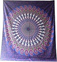 Tagesdecke Paisley Mandala violett pink Überwurf