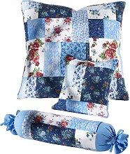 Tagesdecke Patchwork, blau (Einzelbett ohne