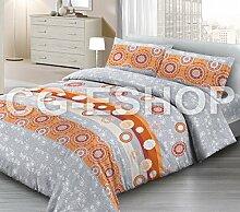 Tagesdecke Piqué Spring 1P Einzelbett Desy Orange Frühjahr