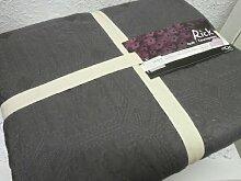 Tagesdecke Plaid Quilt Decke Patchwork dunkelgrau 170 x 220 cm