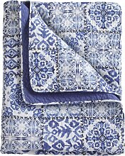 Tagesdecke Roya, blau (Doppelbett 140cm ohne