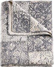 Tagesdecke Selina, grau (Einzelbett mit Fußteil 210/140 cm)