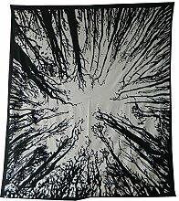 Tagesdecke Wald schwarz weiß Überwurf indische