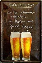 Tagesgericht (Bier) Blechschild, 20 x 30 cm