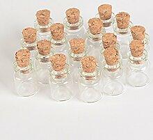 TAI DIAN 100Stück 0,6ml 1ml Mini Glas