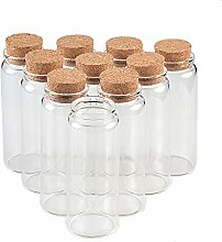 TAI DIAN Glas Flaschen mit Kork Crafts Flaschen