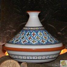 Tajine Bakir türkis–D 31cm Traditionelles