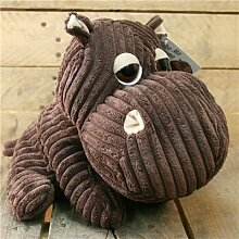 Take Me Home Hippo Door Stop ~ Chunky Cord Ribbed Hippo Doorstop - Chocolate by Carousel Home