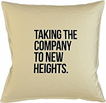 Taking The Company To New Heights Komisch Motivational Kissenbezug Haus Sofa Bett Dekor Beige