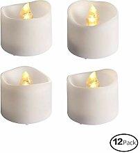 Takson flammenlose LED-Kerze ohne Duft,