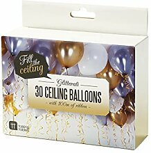 Talking Tables Gold Party, Helium-Ballons und