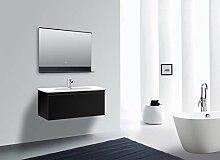 Talos Black Home LED Badspiegel mit Ablage,