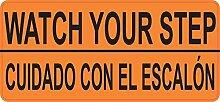 Tamengi 12,7 x 5,7 cm Englisch Spanisch Watch Your