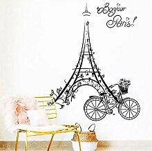 Tamengi Paris Wandaufkleber, Eiffelturm-Aufkleber,
