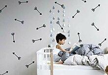 Tamengi Wandaufkleber mit Pfeilmotiv, geometrische