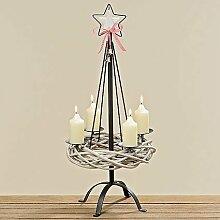 Tamia-Home Adventskranz Kerzenleuchter Weihnachten