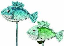 Tamia-Home Solar LED Gartenstab Gartendeko Pesces