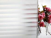 """Tamia-Home Statische Fensterfolie 90% UV-Sonnenschutz Selbsthaftende Sichtschutzfolie Glasdekor """"""""Jalousie"""""""", 1 Stück, milchweiß, halbtransparent, VB-MOWH-QBS5"""