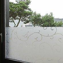 """Tamia-Living Statische Fensterfolie 90% UV-Sonnenschutz Selbsthaftende Sichtschutzfolie Glasdekor """"""""Rebe"""""""" S007 (90*200cm)"""