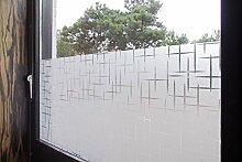 """Tamia-Living Statische Fensterfolie 90% UV-Sonnenschutz Selbsthaftende Sichtschutzfolie Glasdekor """"""""Sterne"""""""" S019 (60*200cm)"""