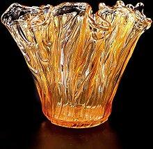 Tammaro Home Murano Glas Vase Honig Farbe Eiche
