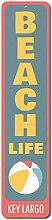 TammieLove Beach Life Vertikales Schild, Custom