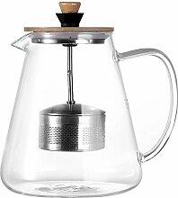 TAMUME 1,5 Liter Glas Teekanne mit Abnehmbaren
