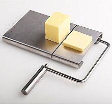 TAMUME Edelstahl Käseplatte mit Leitungen für