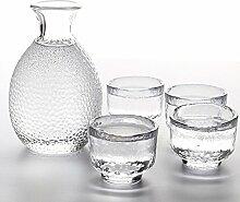 TAMUME Glas Sake Einstellen von 5 Stück, 300ml