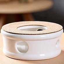 TAMUME Klassisches Stövchen Porzellan Teekanne