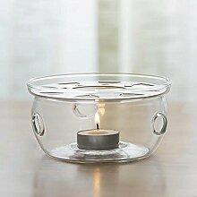 TAMUME Stövchen Crystal Clear Glas Stövchen