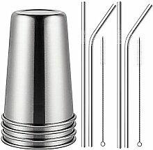 TAMUME Umweltfreundlich Silber Kaffee Becher Set