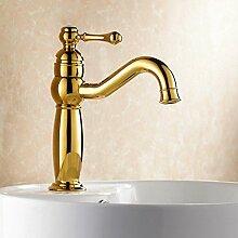 Tanap Goldener Wasserhahn Voller Kupfer Warm und