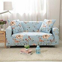 Tanboank Sofabezug 1 2 3 4 Sitzer Sofa,Hellblau