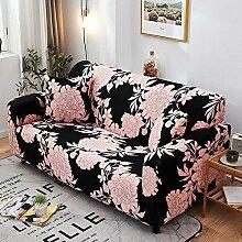 Tanboank Sofabezug 1 2 3 4 Sitzer Sofa, Schwarz