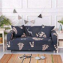 Tanboank Sofabezug Elastisch 2 Sitzer Blätter