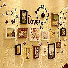 TANG CHAO Bilderrahmen Holz Uhren Wohnzimmer