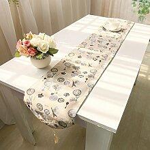 Tang Moine Aus 100% Baumwolle Und Leinen Tisch Schrank Flagge Bett Flagge,32*200cm