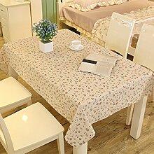 Tang moine Continental Einfach Baumwolle Tischdecken Staubdicht Kaffeetischdecke Haushalt Tischdecke,Pink2-39.3in*55.1in