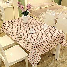 Tang moine Continental Einfach Baumwolle Tischdecken Staubdicht Kaffeetischdecke Haushalt Tischdecke,Red-47.2in*62.9in