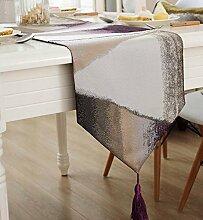 Tang Moine Continental Einfach Modern Tischdecke Schrank Fahnen Tischläufer,Purple-32*200cm