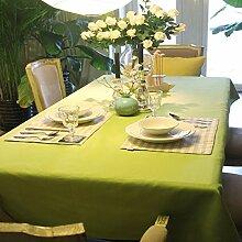 Tang Moine Continental Kleine Frische Feste Farbe Grün Tisch Couchtisch Drapieren Hotels,130x180cm